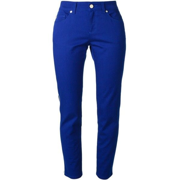 Professional Cheap Online 100% Authentic Cheap Online piped trim detail jeans - Blue Alexander McQueen R6nH8