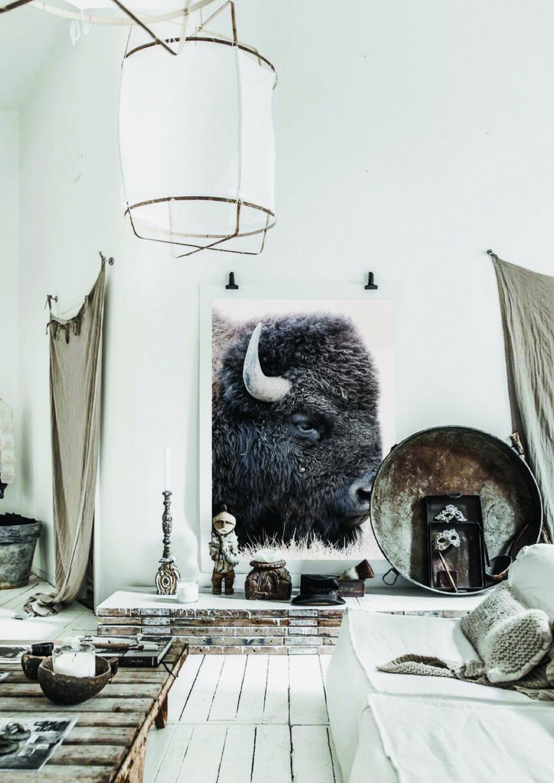 affiche maison d coration murale bison boho impressive fichier num rique t l charger. Black Bedroom Furniture Sets. Home Design Ideas