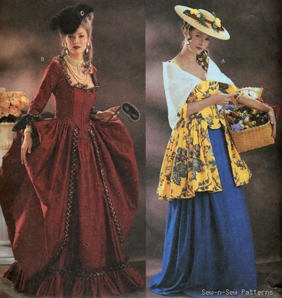 Butterick Historical Costume Sewing Pattern By