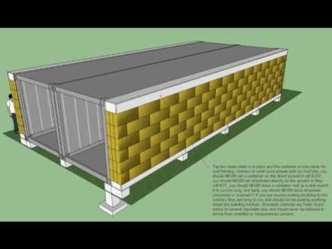 Container home insulated with straw bales great idea oh shut up my two favorite design - How to insulate a shipping container home ...