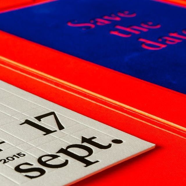 Save the date 2015 of @rdvcreateurs #typography #flocking #rdvcreateurs #designprint #savethedate #swissgraphicdesign #gmundcotton #papyrus #letterpress #sonderegger #flocking #bastcolor