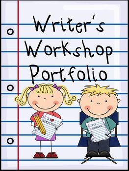$This set contains what you need to implement Writing Portfolios in your classroom.Each student has a 1/2