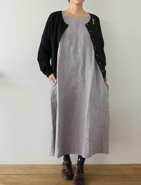 e5c0055db26  Envelope Online Shop  Anasta2・Gray stripe Fog Linen