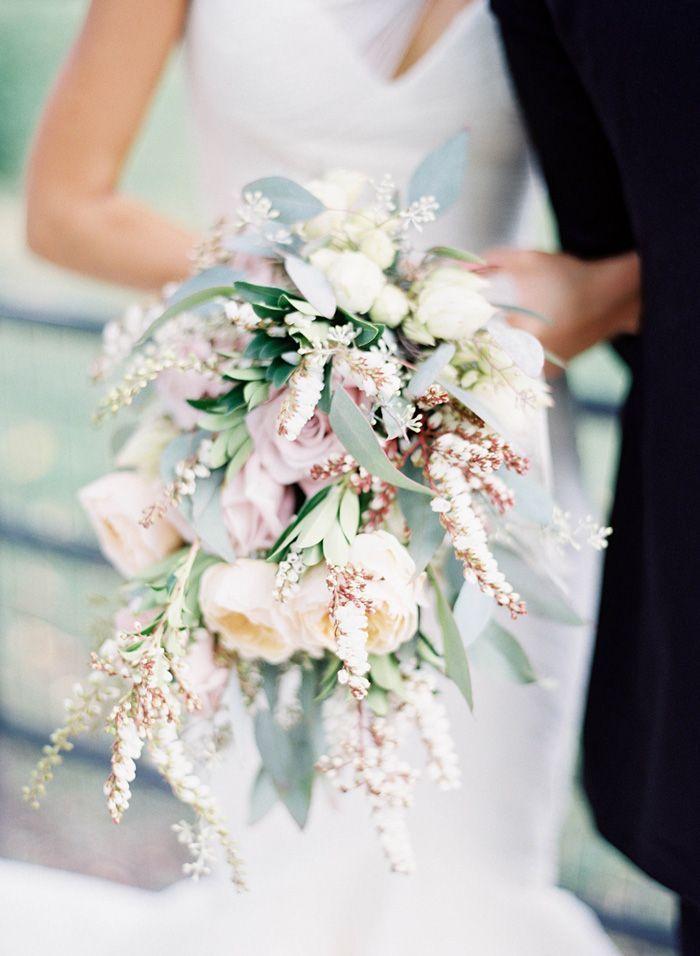 New York Wedding By Jen Huang Cascading Wedding Bouquets Boquette Wedding Glamorous Wedding