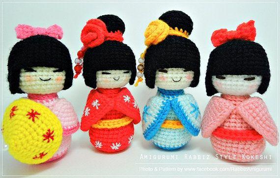 Amigurumi Boy Doll Pattern : Pdf pattern amigurumi kokeshi dolls kokeshi dolls amigurumi and pdf