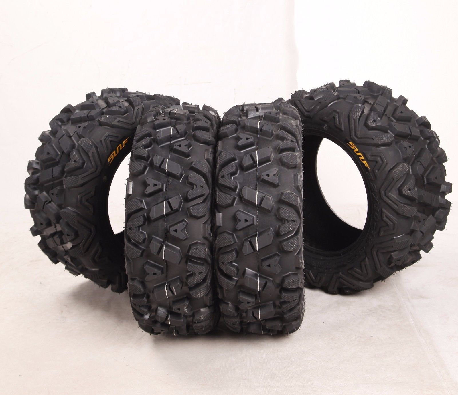6 Ply New MASSFX MS ATV Tires 25x10-12 Rear Tire Set 4 25x8-12 Front 2 2