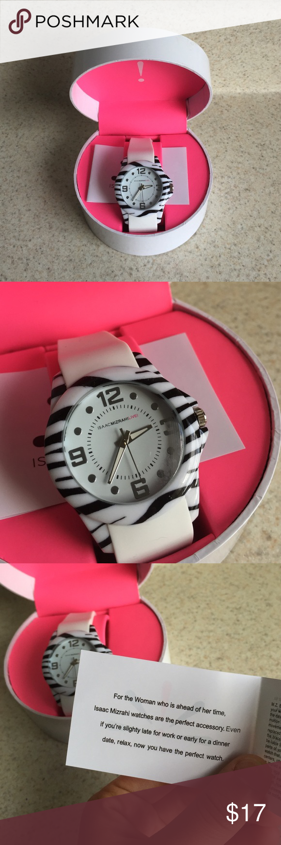 Isaac Mizrahi Live! Watch Isaac Mizrahi Live! watch with no flaws! New in box!! A great watch for anyone with a fun sense of style! Comes with box! PRICE FIRM Isaac Mizrahi Accessories Watches