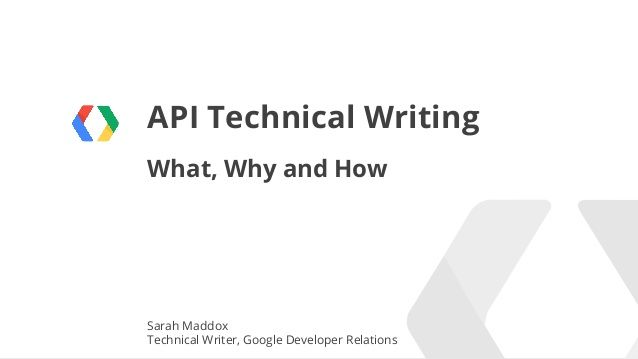 Api Docs By Sarah Maddox Here Are The Slides For Her Stc Talk