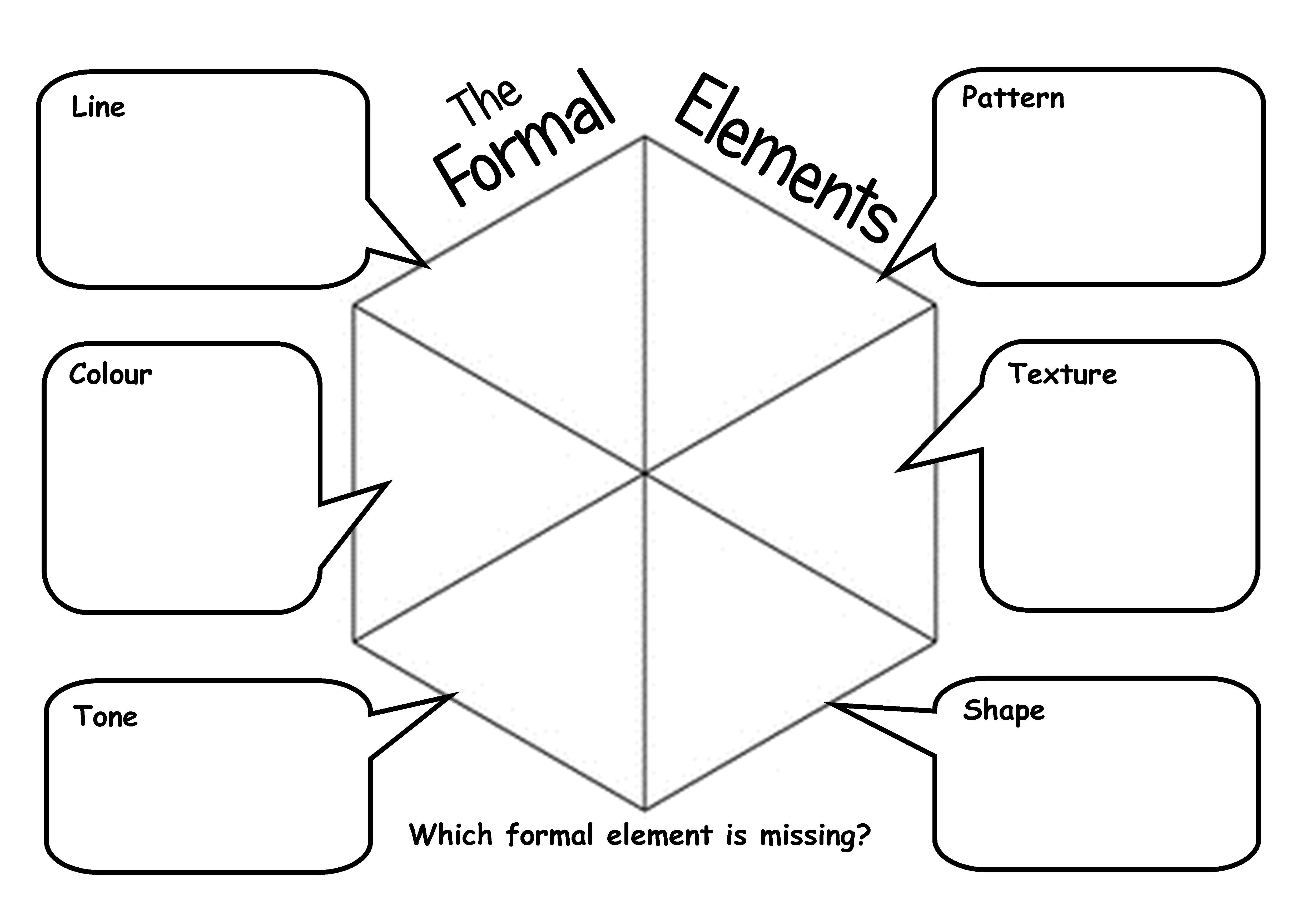 Formal Elements Worksheet Allowing Pupils To Produce A Reference With Definitions Formal Elements Of Art Art Worksheets Art Education Lessons