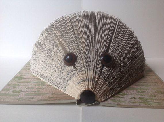 H risson pli livre d 39 art pli pages livre art par - Herisson en papier ...