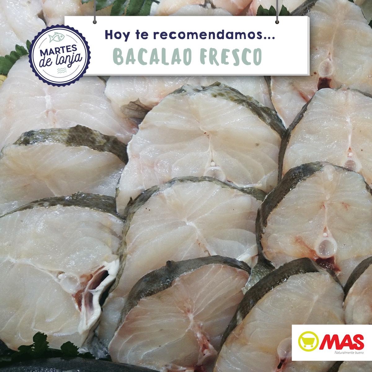 ¿Has probado ya el bacalao fresco? Pídenos que te lo cortemos en rodajas, ¡está buenísimo! Descubre recetas de bacalao en salsa: http://bit.ly/10RecetasFacilesBacalao
