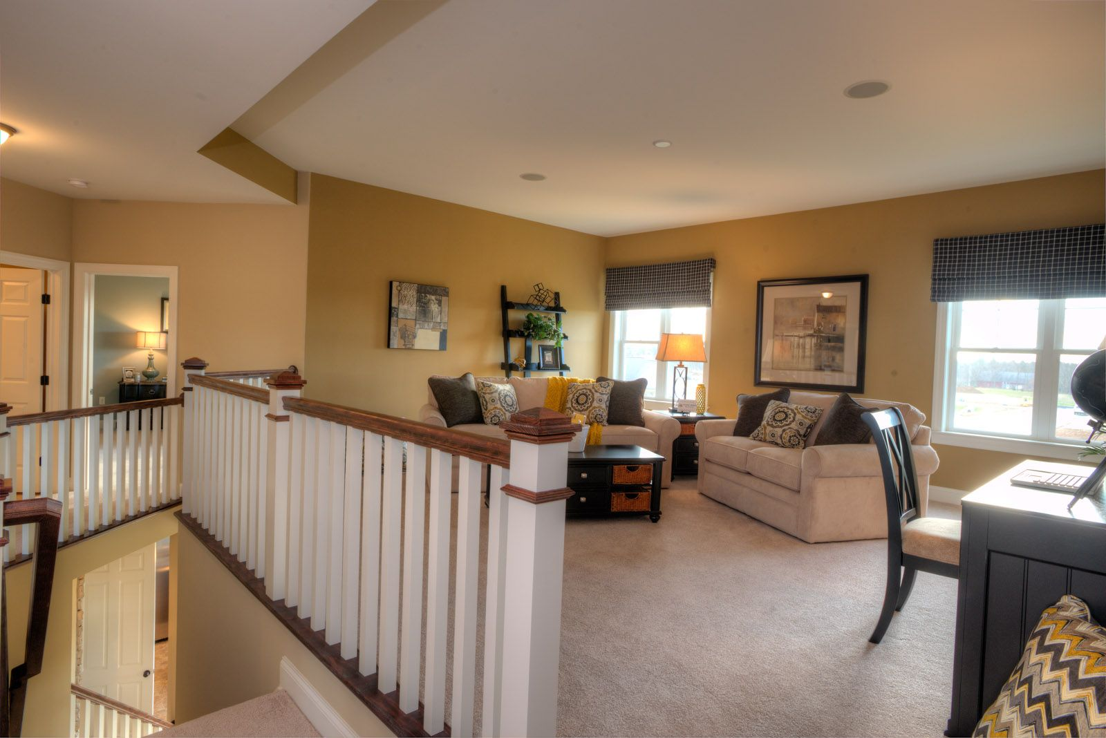 Ious Loft Style 2nd Floor Rec Room With Sherwin Williams Baguette Wall Color Ownalandmark Projectdreamhouse