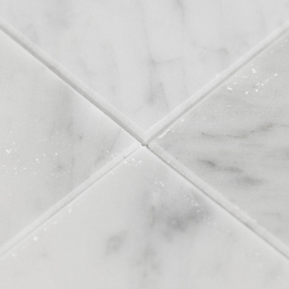 6 Sf Bianco Carrara Italian Marble Tile 18in X 18in Floor And Decor Bianco Carrara Marble Tile Stone Siding