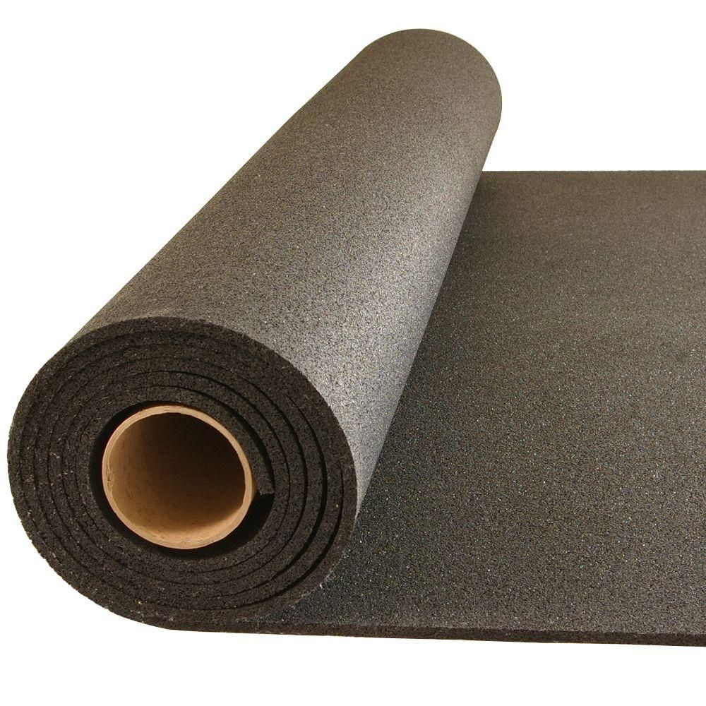 Greatmats Plyometric Black 4 ft. x 10 ft. x 0.314 in. Gym