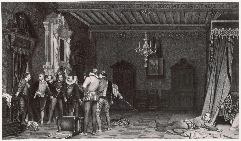 Robert Jefferson Bingham | Fotoreproductie van schilderij door Paul Delaroche: Assassinat du Duc de Guise au chateau de Blois, Robert Jefferson Bingham, Goupil & Cie, 1858 |