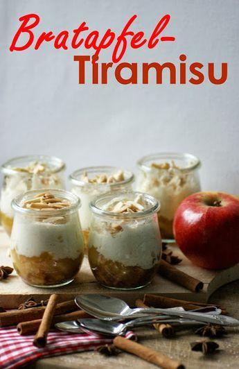 Winter dessert: spicy baked apple tiramisu – cinnamon biscuit and apple tart
