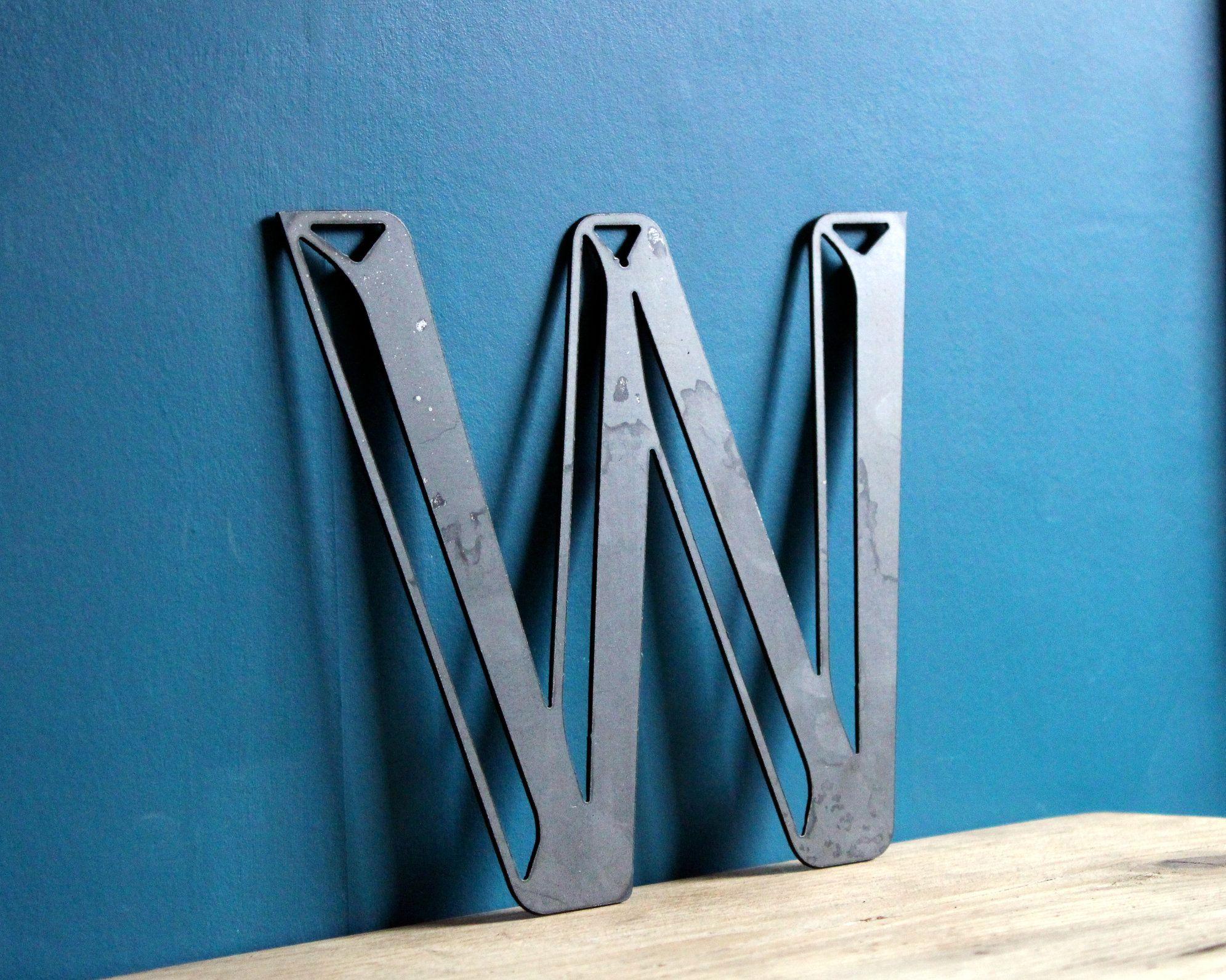 Large Metal Letter 3d Industrial Style Steel Lettering 3d Metal