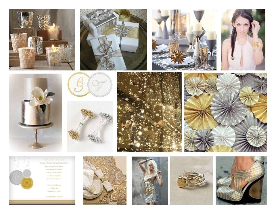 Winter Gold Wedding | conceptwed | Silver & gold | Pinterest ...