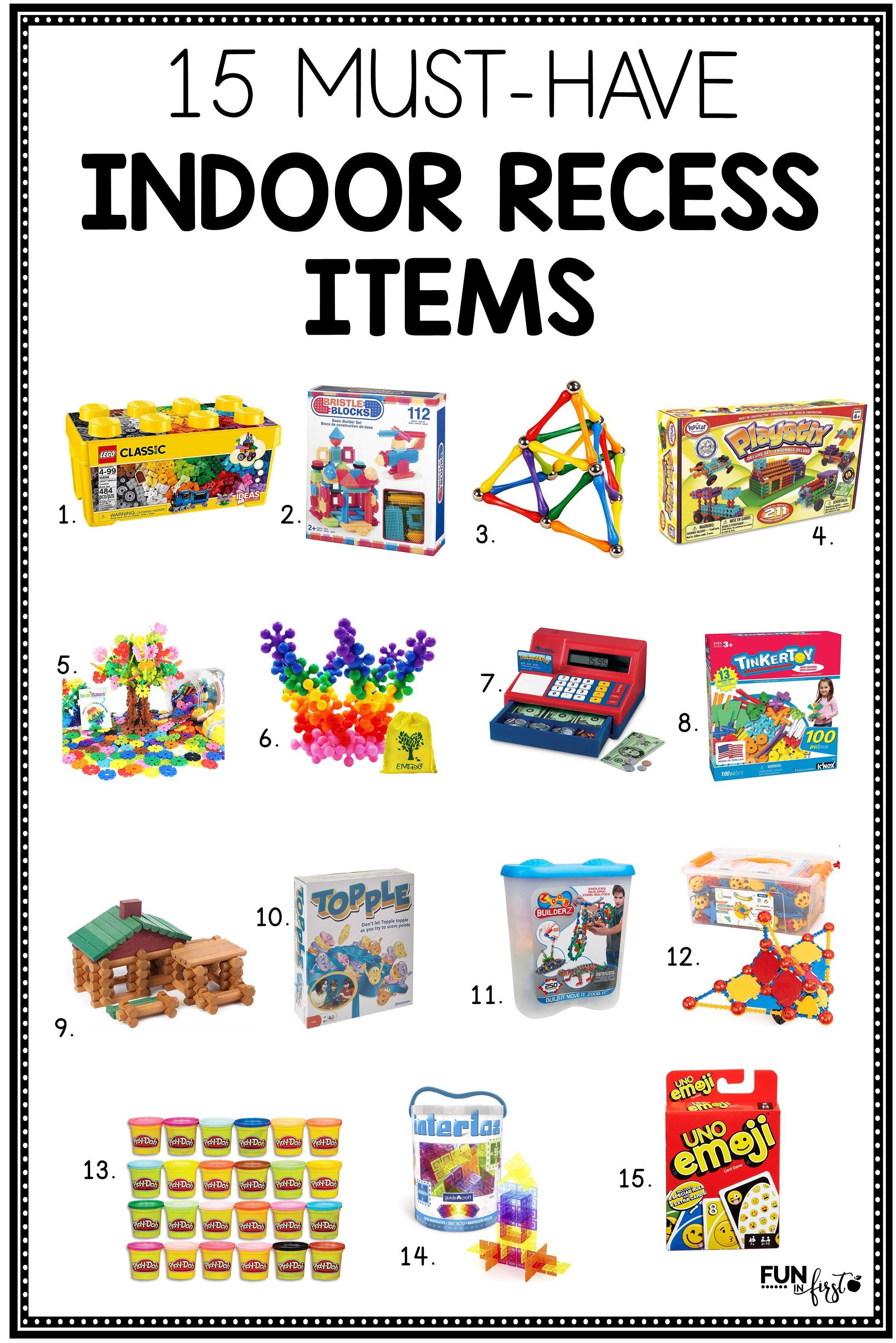 15 MustHave Indoor Recess Items Indoor recess, Teaching