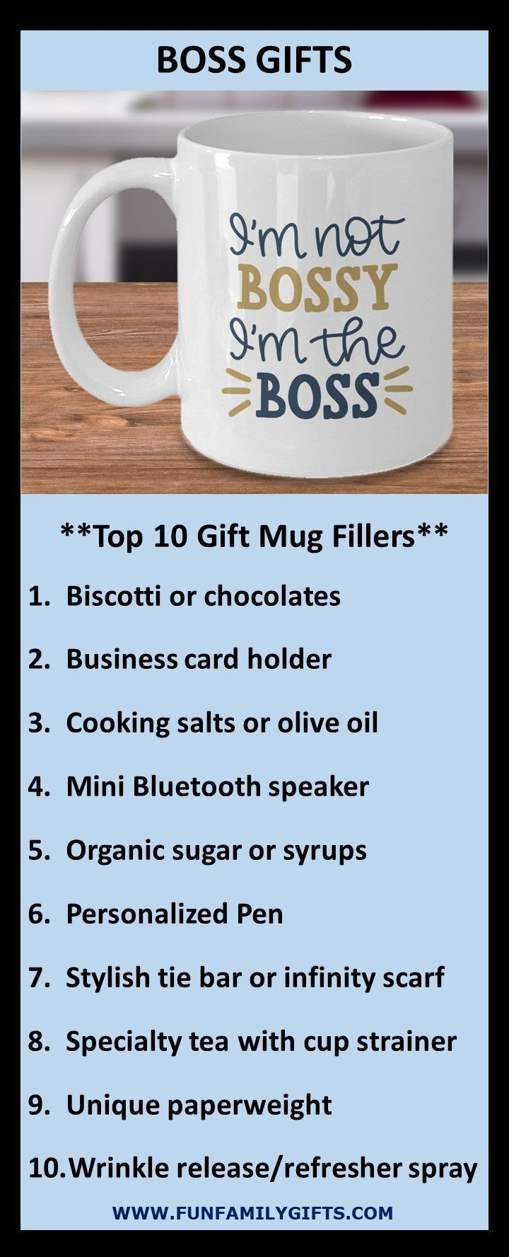 Boss Gifts - I'm Not Bossy I'm The Boss - Funny Unique Gift Mug for Coffee & Tea #boss # ...