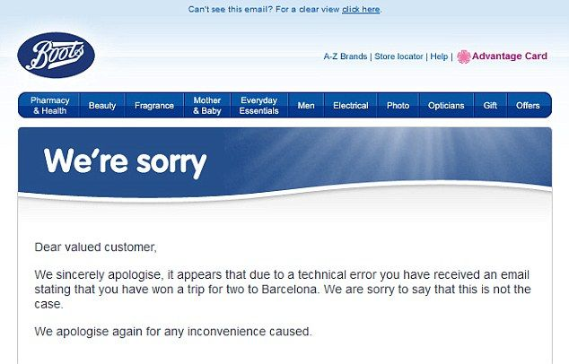 Boots Apology Email  Apology Emails