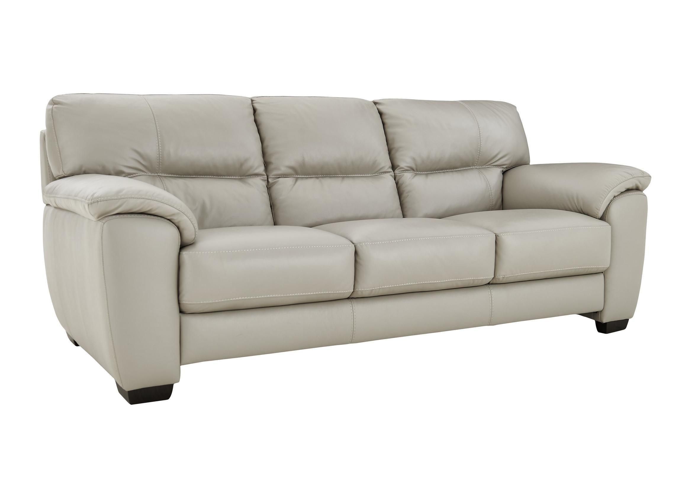 Shades 3 Seater 3 Cushion Leather Sofa Sofas Leather Sofa 3