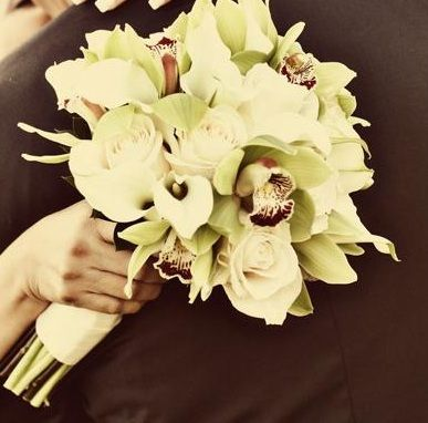 Calla lilies and orchids