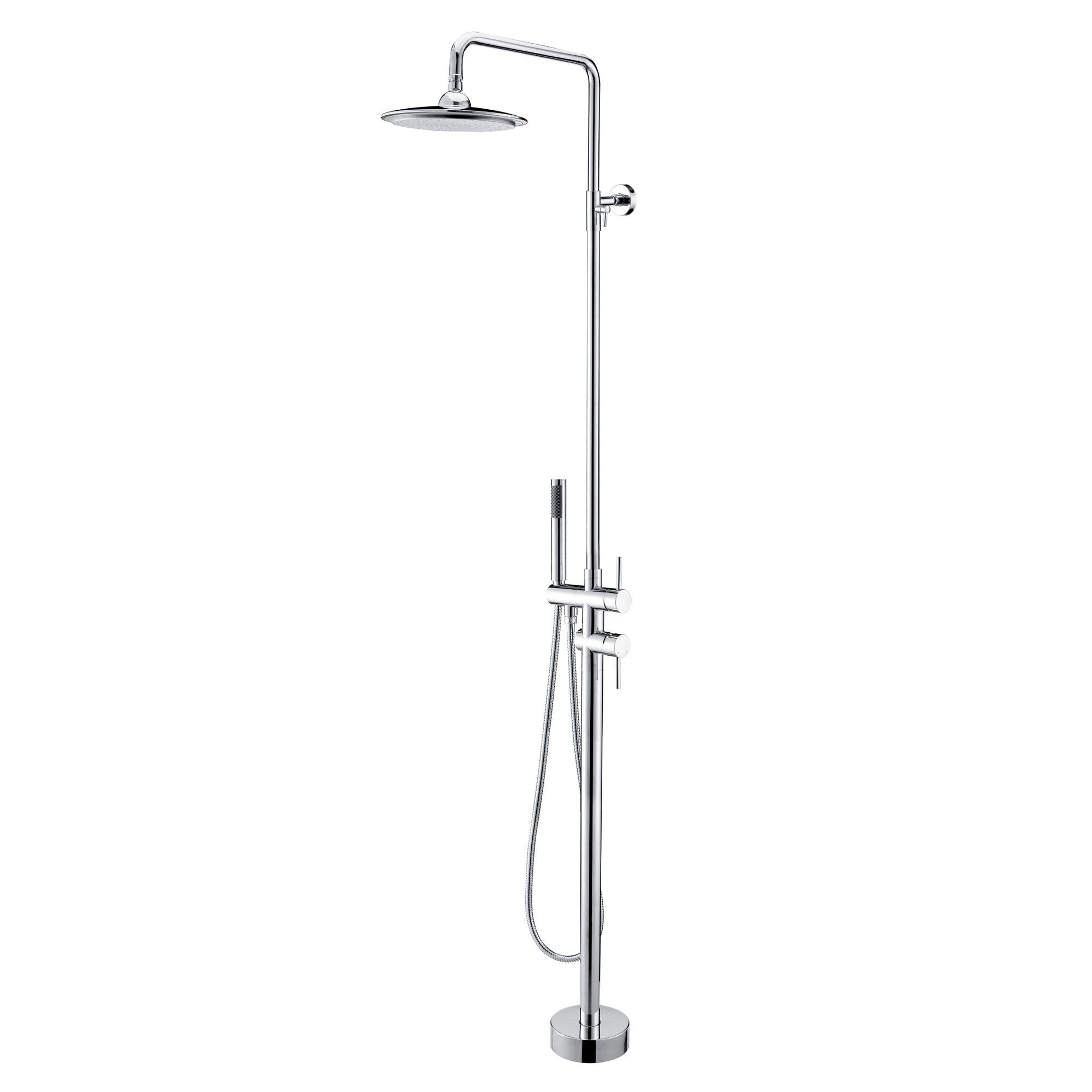 Search Results For Faucets Shower Faucets Shower Systems Brewst Freestanding Rain Shower Head And Hand Shower Shower Faucet Rain Shower Standing Shower