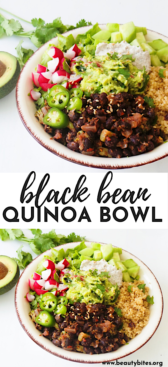 Black Bean Quinoa Bowls Vegan Gf Meal Prep