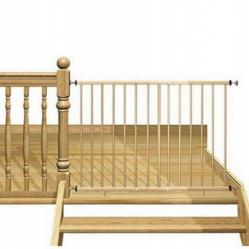 Barandilla de seguridad infantil mia barandilla de seguridad para ni os en madera de color haya - Seguridad escaleras ninos ...