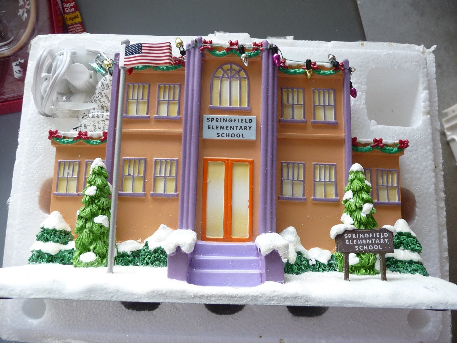 Simpsons Christmas Village.2008 09 Complete Simpson S Christmas Village By Hawthorne