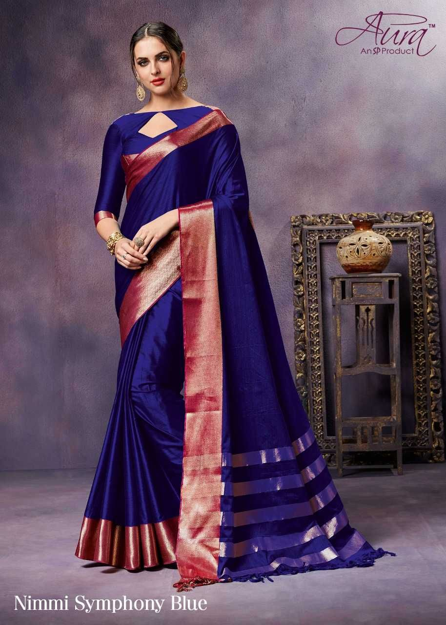 Pure silk saree 2018 brand  aura catalogue  nimmi  fabric  pure silk cotton total