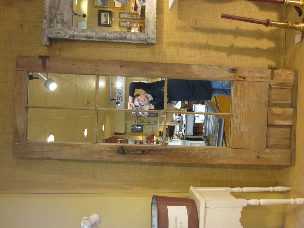 Antique farmhouse door with mirror image 3 with images