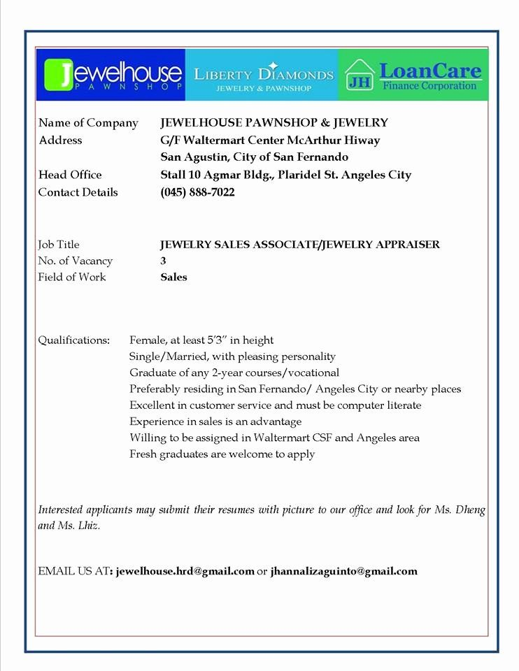 Jewelry Sales Associate Resume Best Of Salary Confidential
