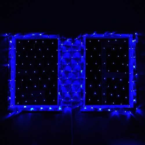 Connectable christmas led net light with 176 blue leds 40x80 120 connectable christmas led net light with 176 blue leds 40x80 120 volt green net lightsstring aloadofball Images