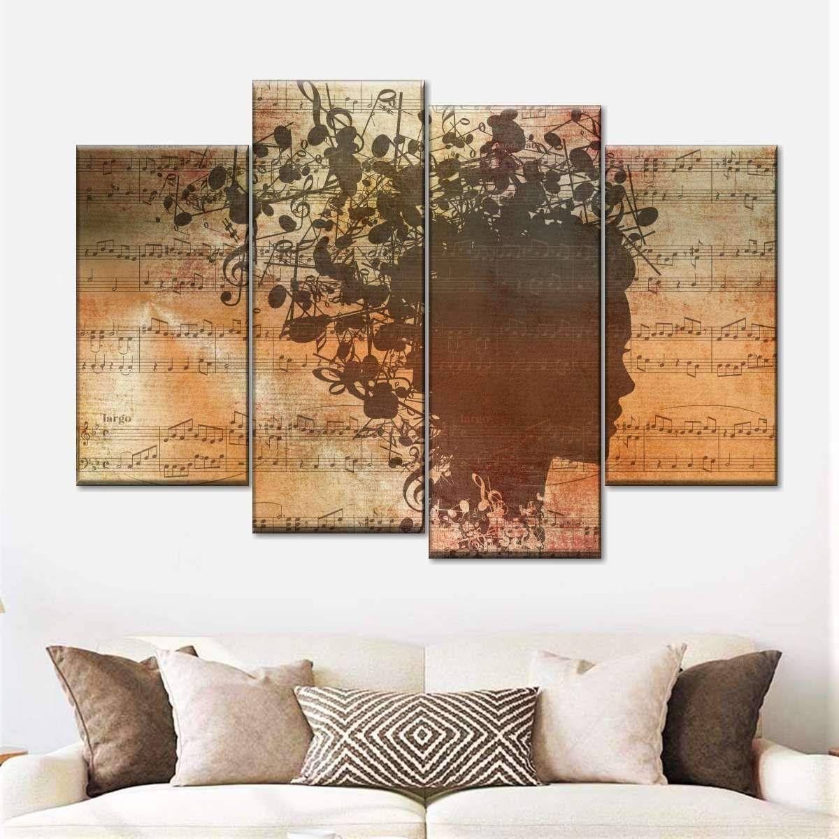 Music In My Head Multi Panel Canvas Wall Art