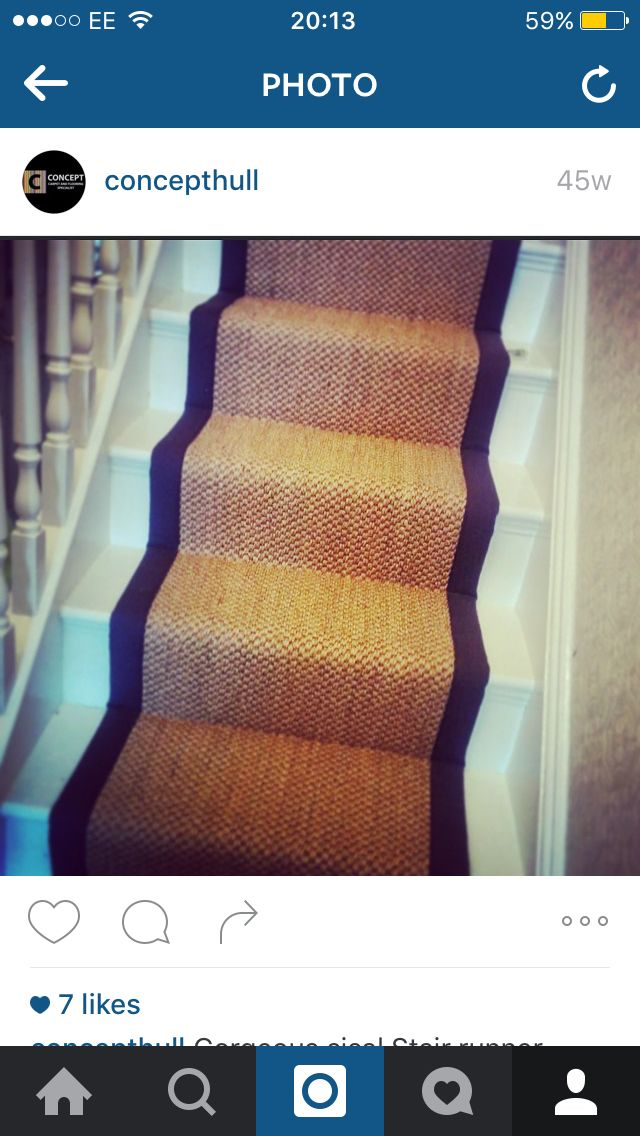 Crucial Trading Stair Runner carpet Seagrass bespoke