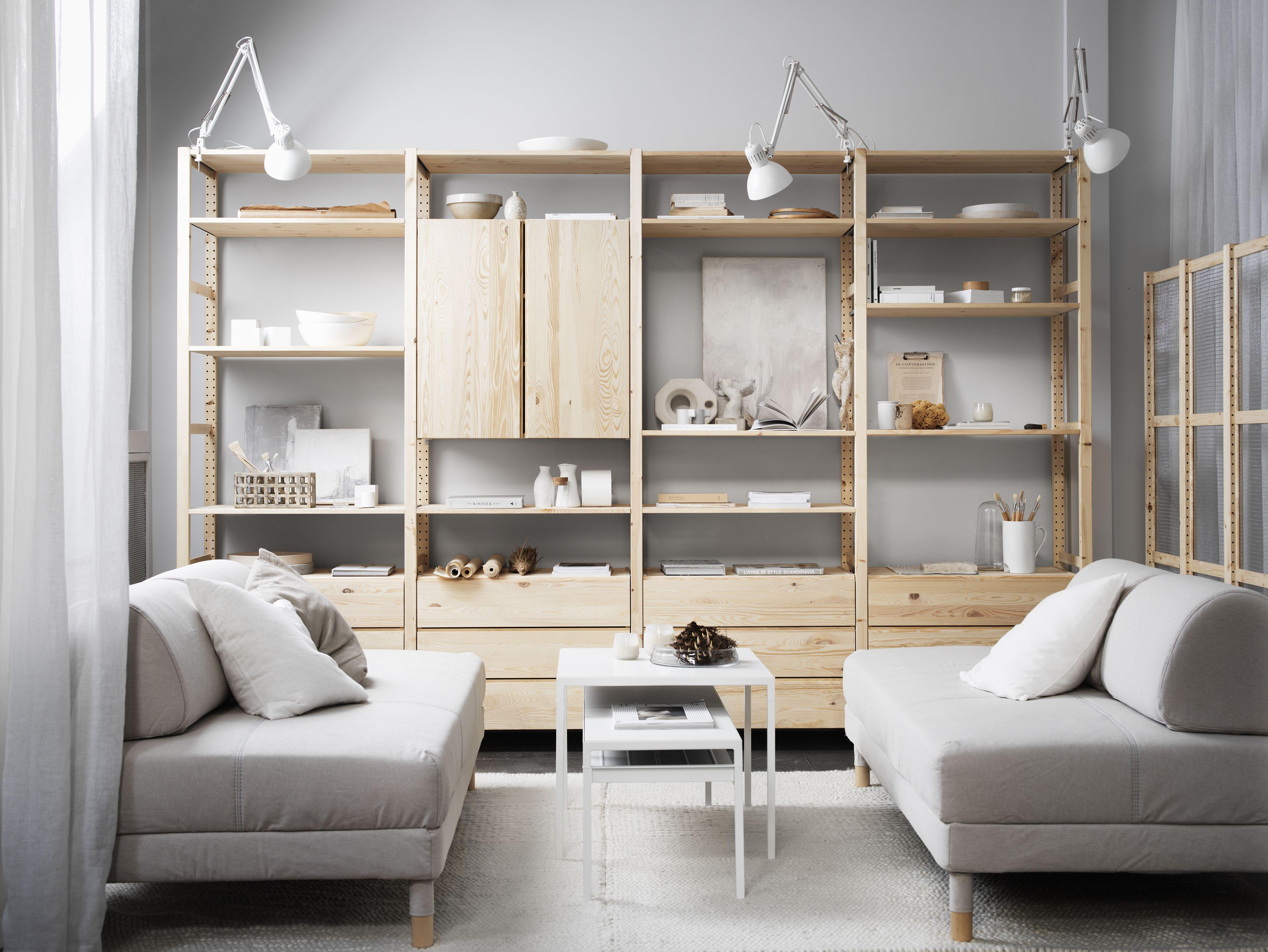 ny bild ivar hyllkombination och flottebo soffa ideias. Black Bedroom Furniture Sets. Home Design Ideas
