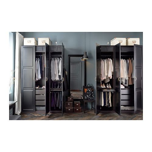 ikea pax eckschrank braun. Black Bedroom Furniture Sets. Home Design Ideas