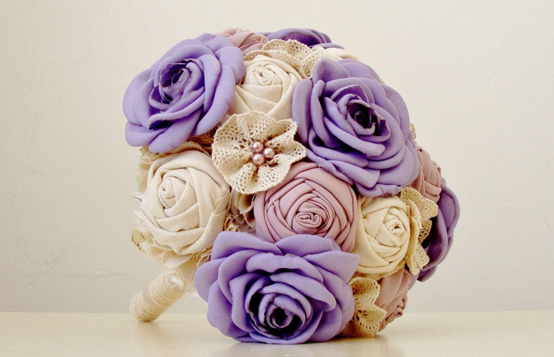Fabric Flower Bouquet Brooch Bouquet Wedding Fabric Bridal