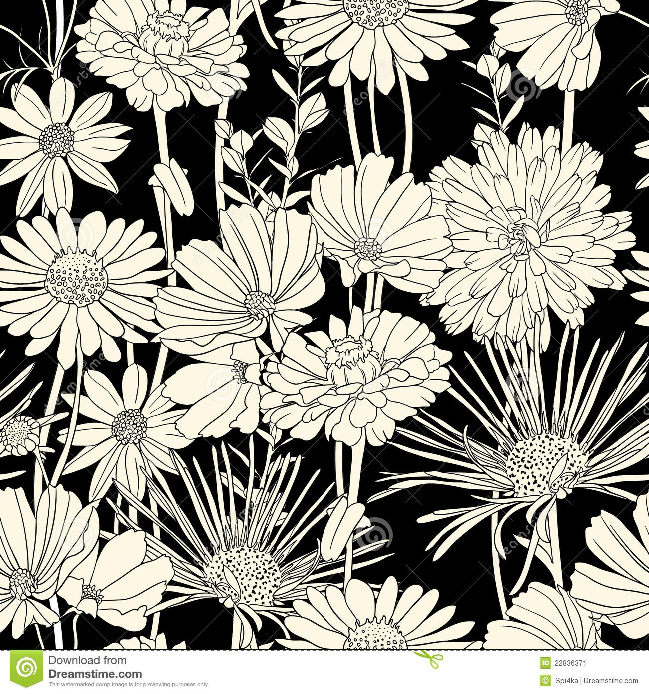 black-white-floral-seamless-pattern-22836371.jpg (1300×1390)