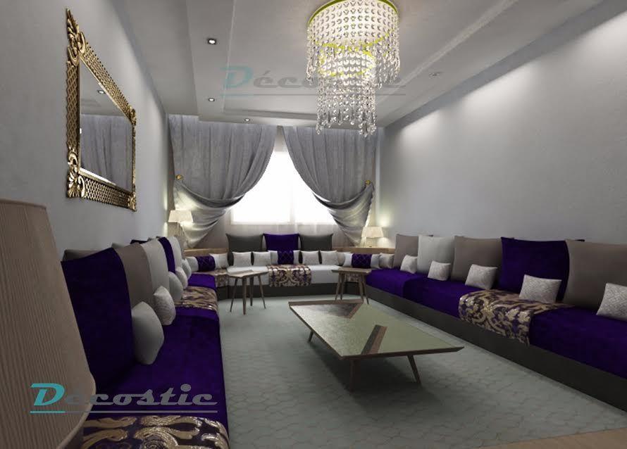 Salon marocain u2013 salon u2013 Décostic Salon marocain Pinterest - cree ma maison en 3d gratuitement