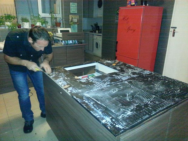 Coin Resin Countertop