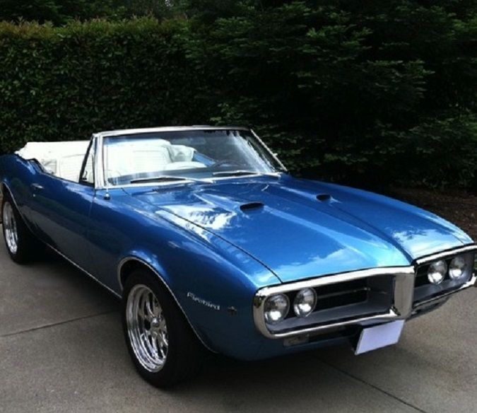 Pontiac Firebird Blue With White Interior Classic Gm