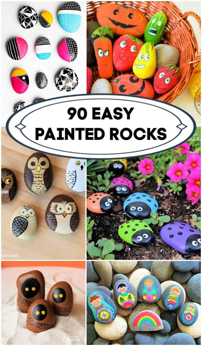 90 Easy Rock Painting Ideas For