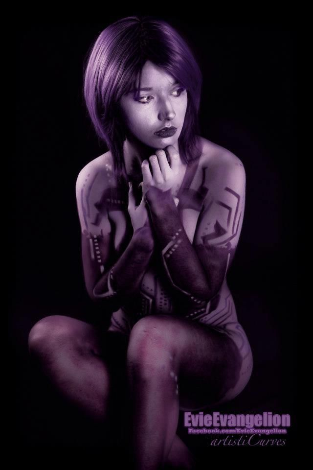 Cortana (from Halo) by https://facebook.com/EvieEvangelion