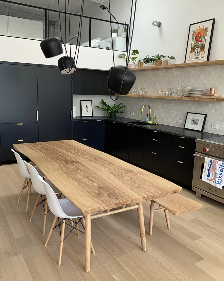 Sobu Our Gorgeous Mars Live Edge Dining Table In Ash