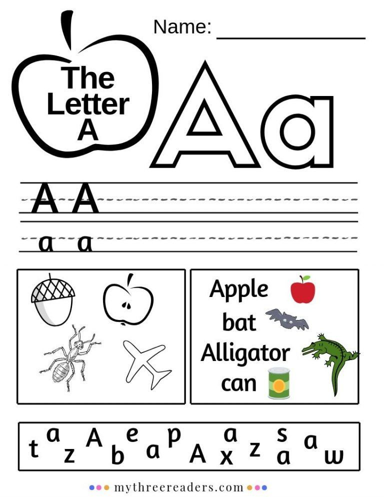 All about the preschool letter A! Teaching a young child