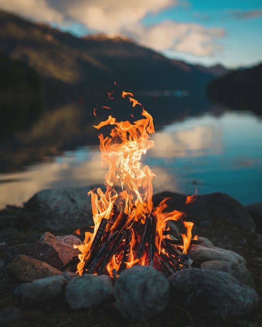 Наша жизнь, как костер сгорает! Цените каждый момент ...
