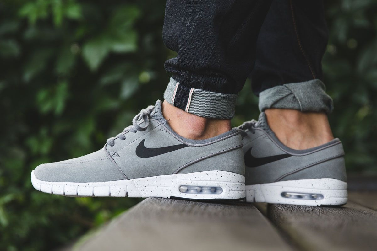 Nike Skateboarding s latest release of the Stefan Janoski Max is rocking a  suede upper with a mesh tongue. The color application for the drop is cool  grey dc52783d6